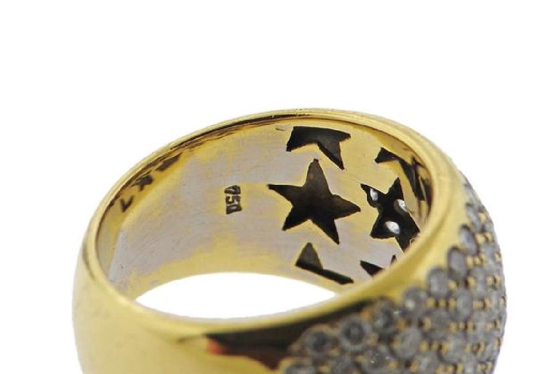 18k Gold Diamond Dome Ring - 4