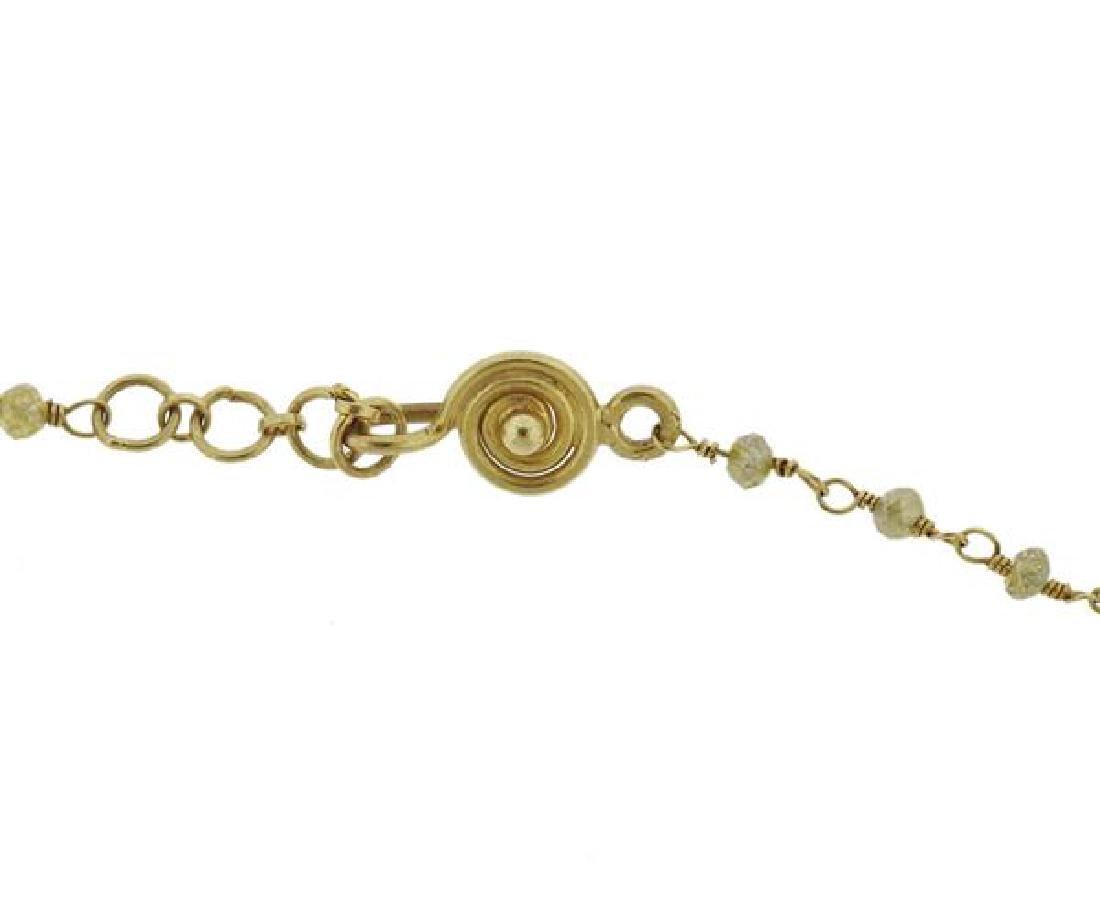 18k Gold Diamond Necklace - 2