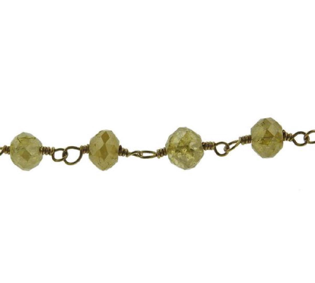 18k Gold Diamond Necklace - 3