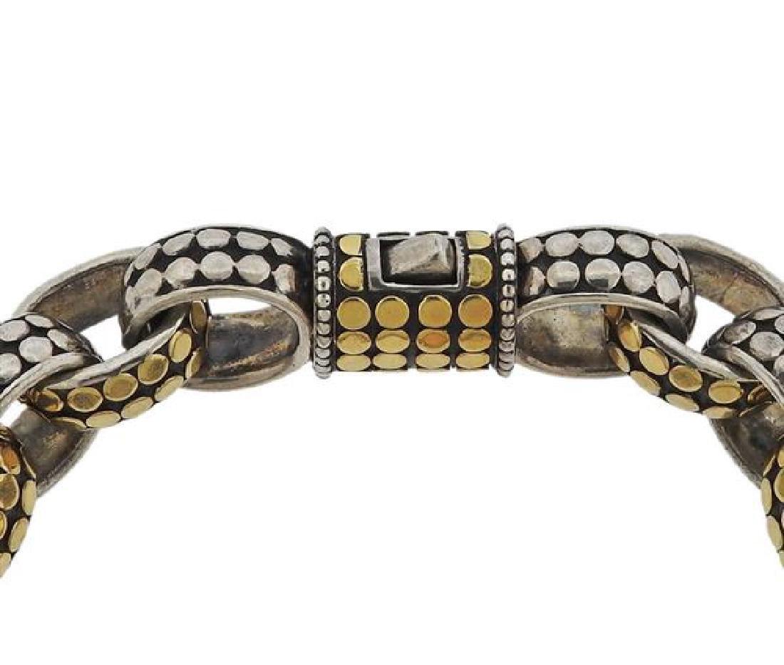 John Hardy Dots Sterling 18k Gold Link Bracelet - 3