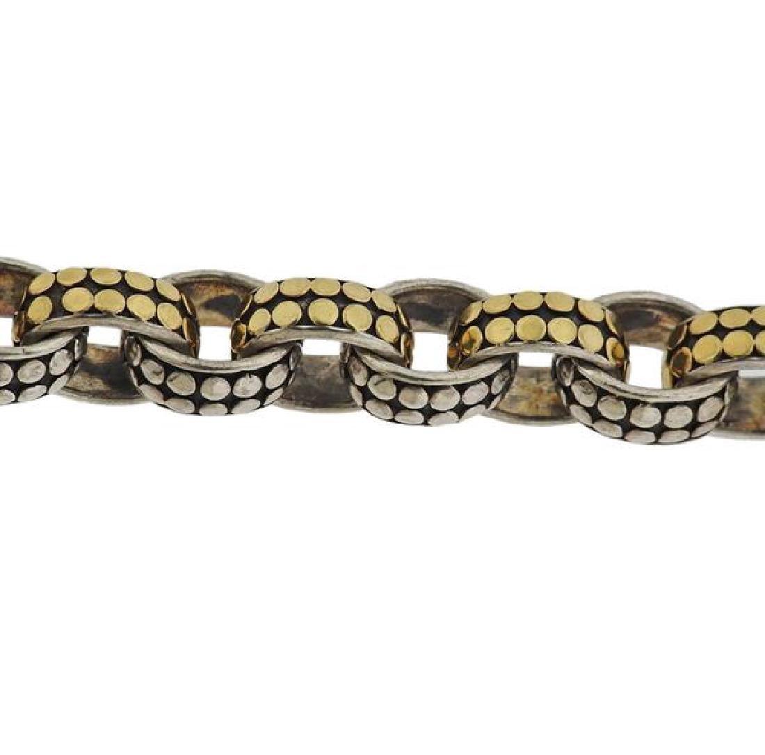 John Hardy Dots Sterling 18k Gold Link Bracelet - 4