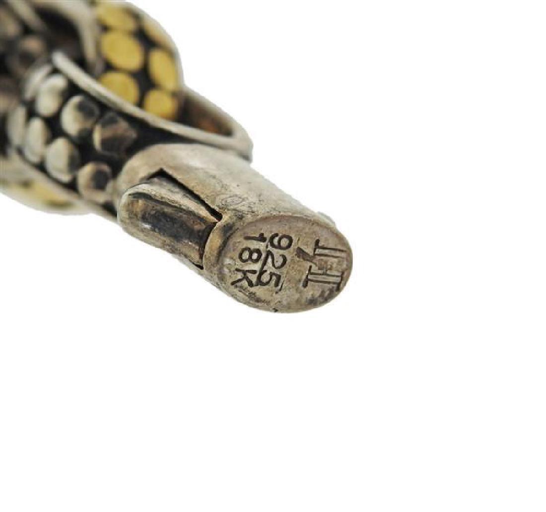 John Hardy Dots Sterling 18k Gold Link Bracelet - 5