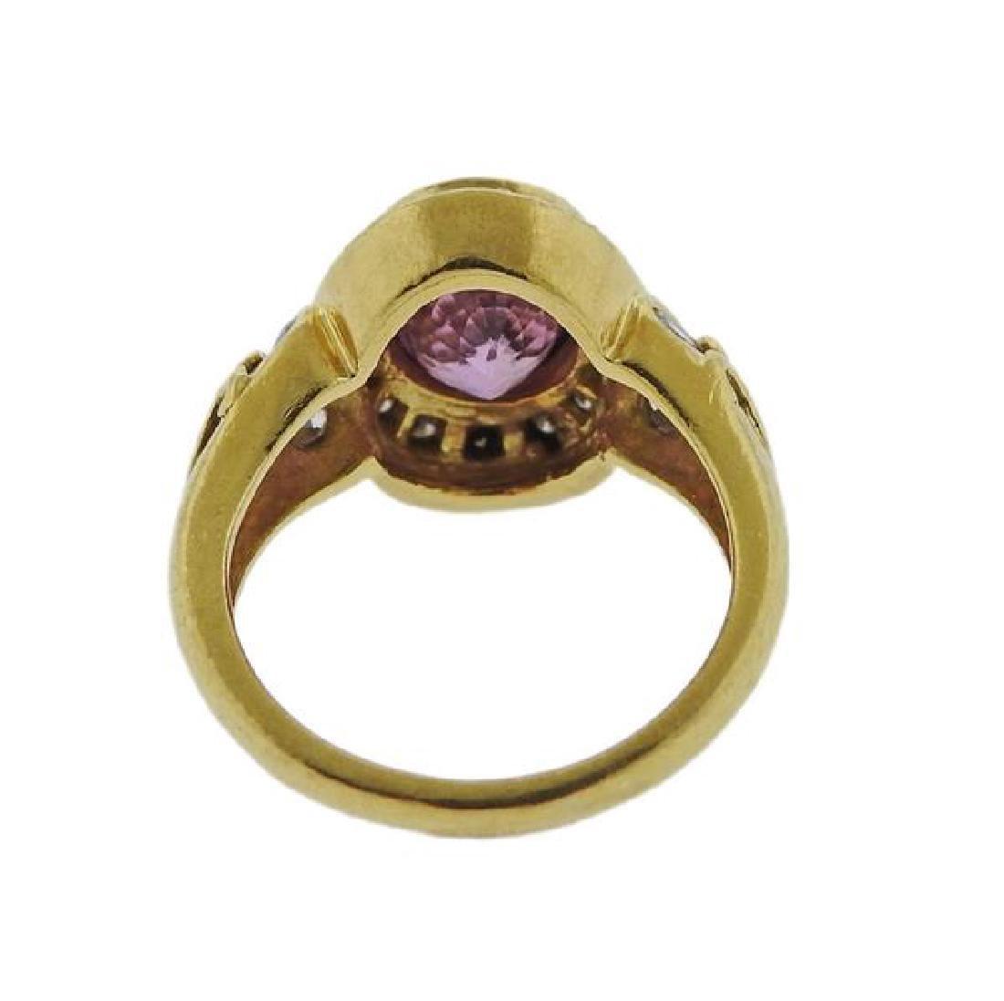 Helen Woodhull 18k Gold Diamond Pink sapphire Ring - 3