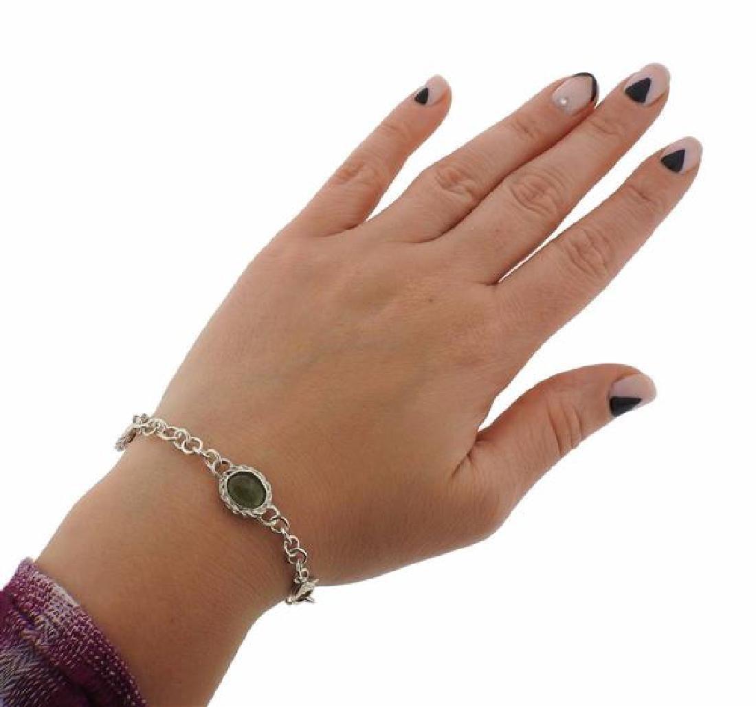 F. Buccellati Sterling Green Red Sapphire Bracelet - 5