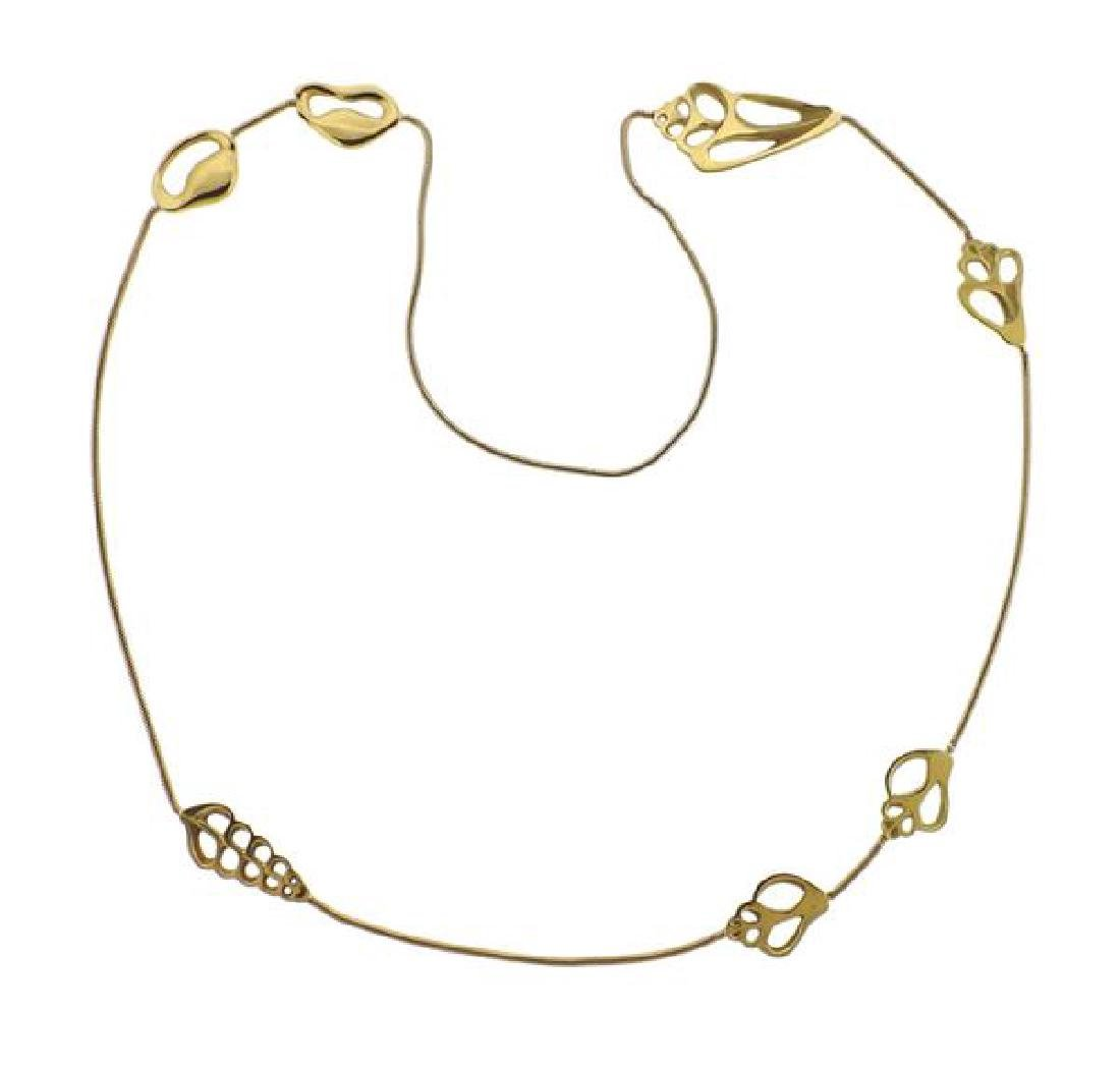 1970s Tiffany & Co 18k Gold Shell Motif Necklace