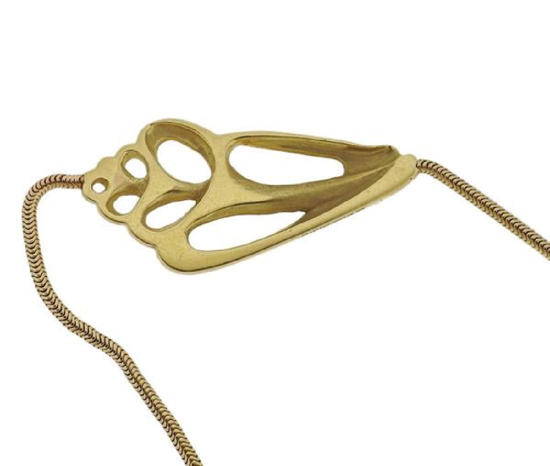 1970s Tiffany & Co 18k Gold Shell Motif Necklace - 3