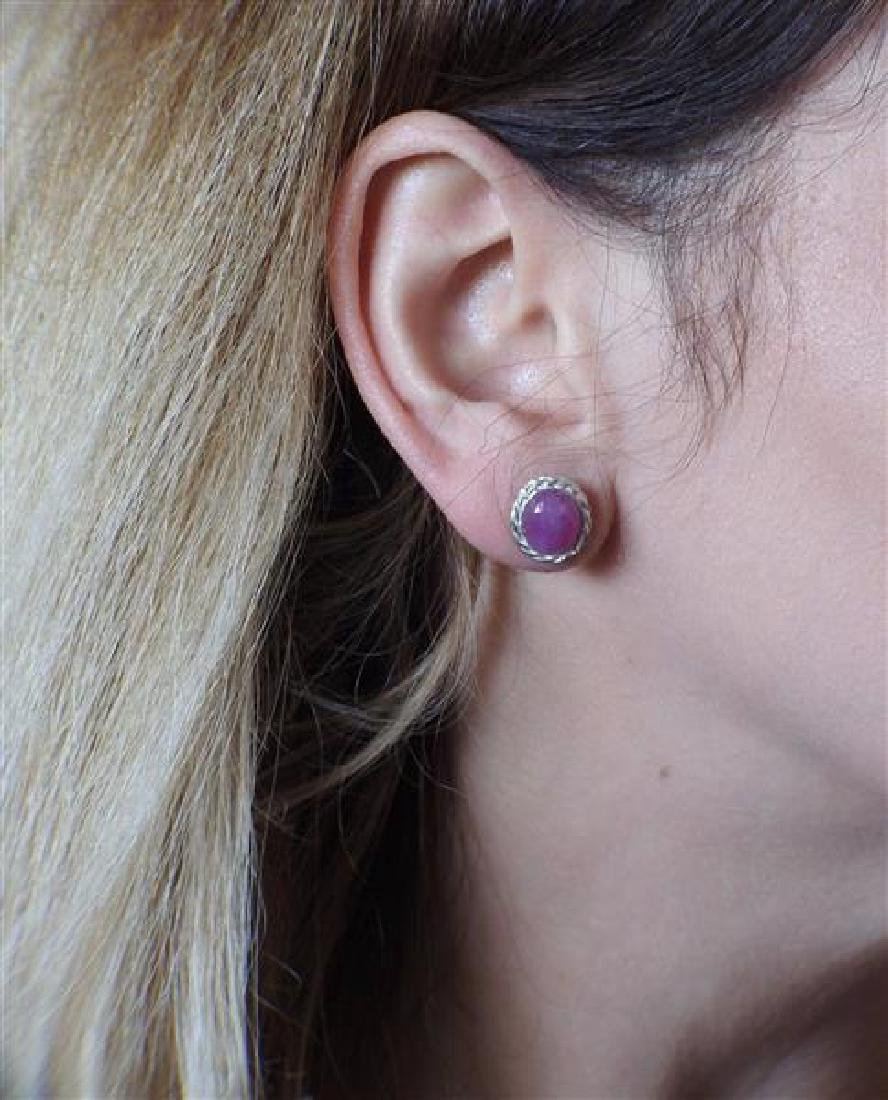 F. Buccellati Sterling Silver Pink Sapphire Earrings - 3