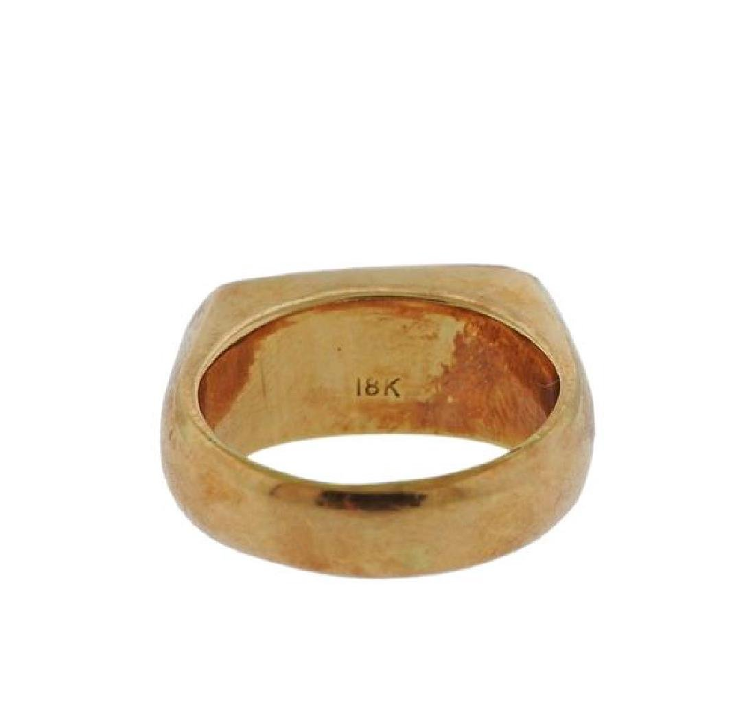 18K Gold Jade Ring - 3
