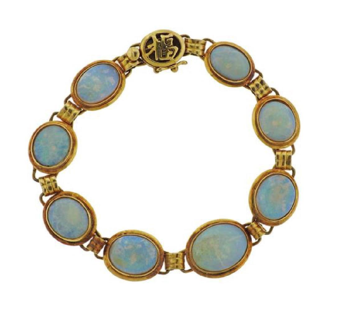 14k Gold Opal Bracelet