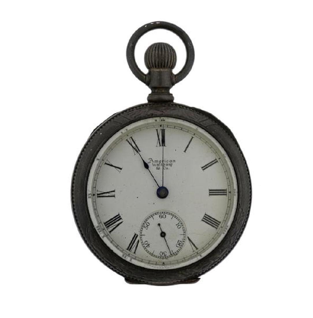 Antique Waltham Coin Silver Pocket Watch