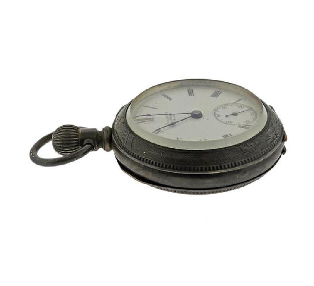 Antique Waltham Coin Silver Pocket Watch - 2