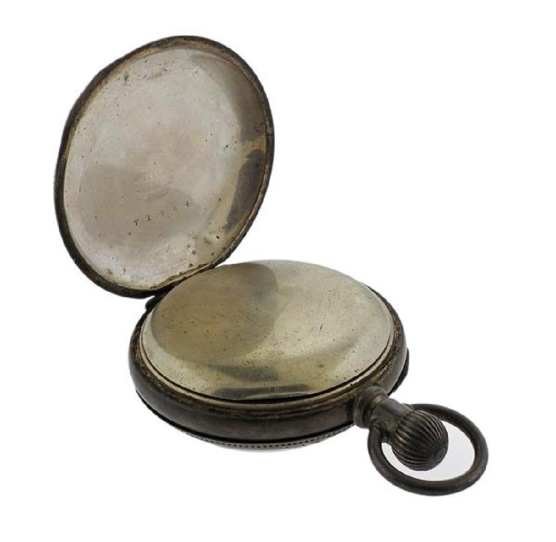 Antique Waltham Coin Silver Pocket Watch - 4