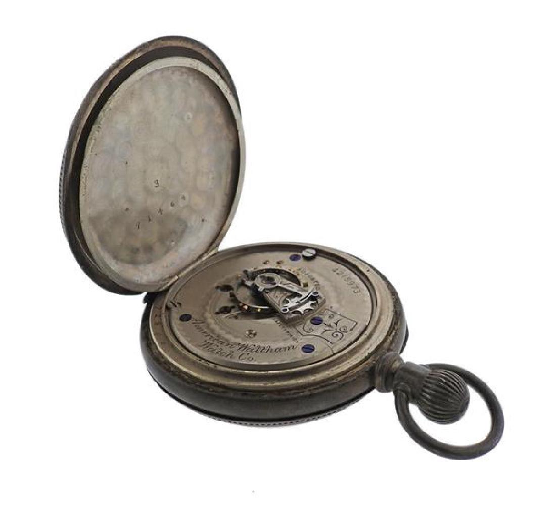 Antique Waltham Coin Silver Pocket Watch - 5