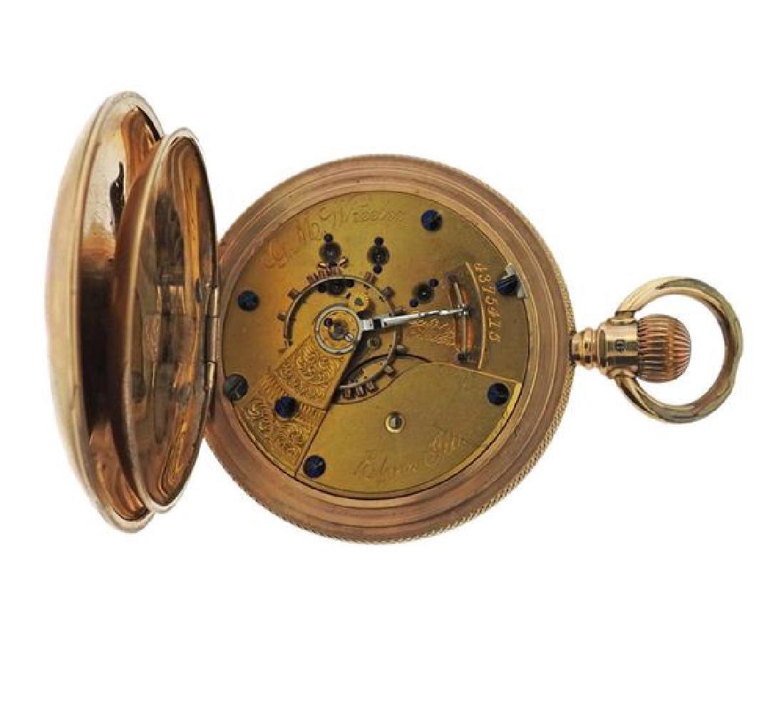 Elgin Gold Filled Pocket Watch - 6