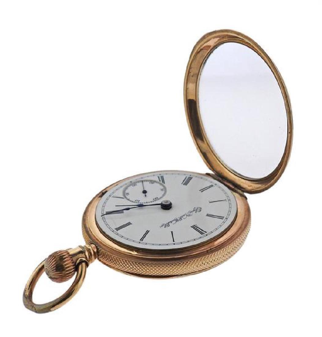 Elgin Gold Filled Pocket Watch - 7