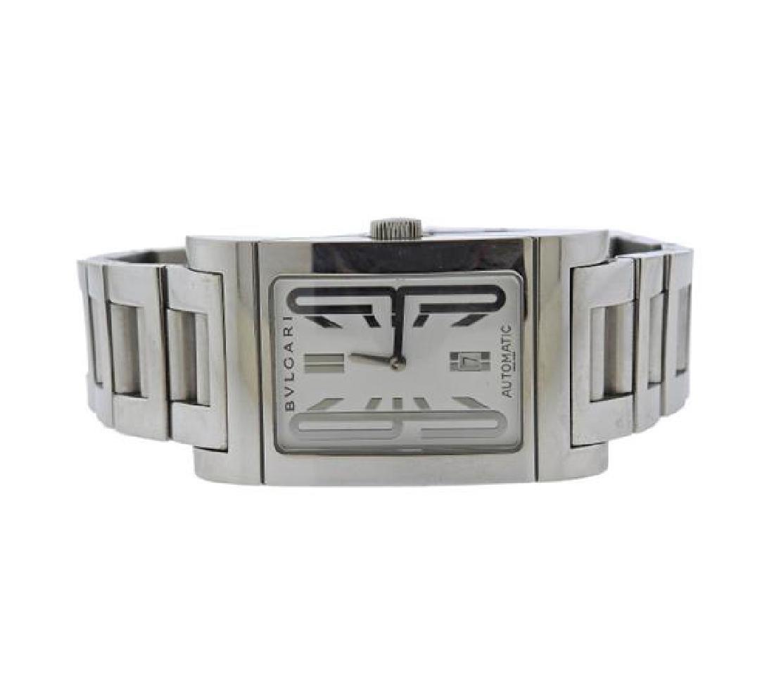 Bvlgari Bulgari Rettangolo Steel Watch RT45S