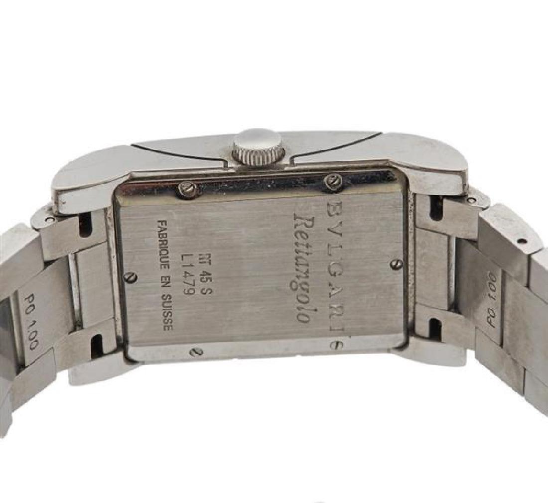 Bvlgari Bulgari Rettangolo Steel Watch RT45S - 3