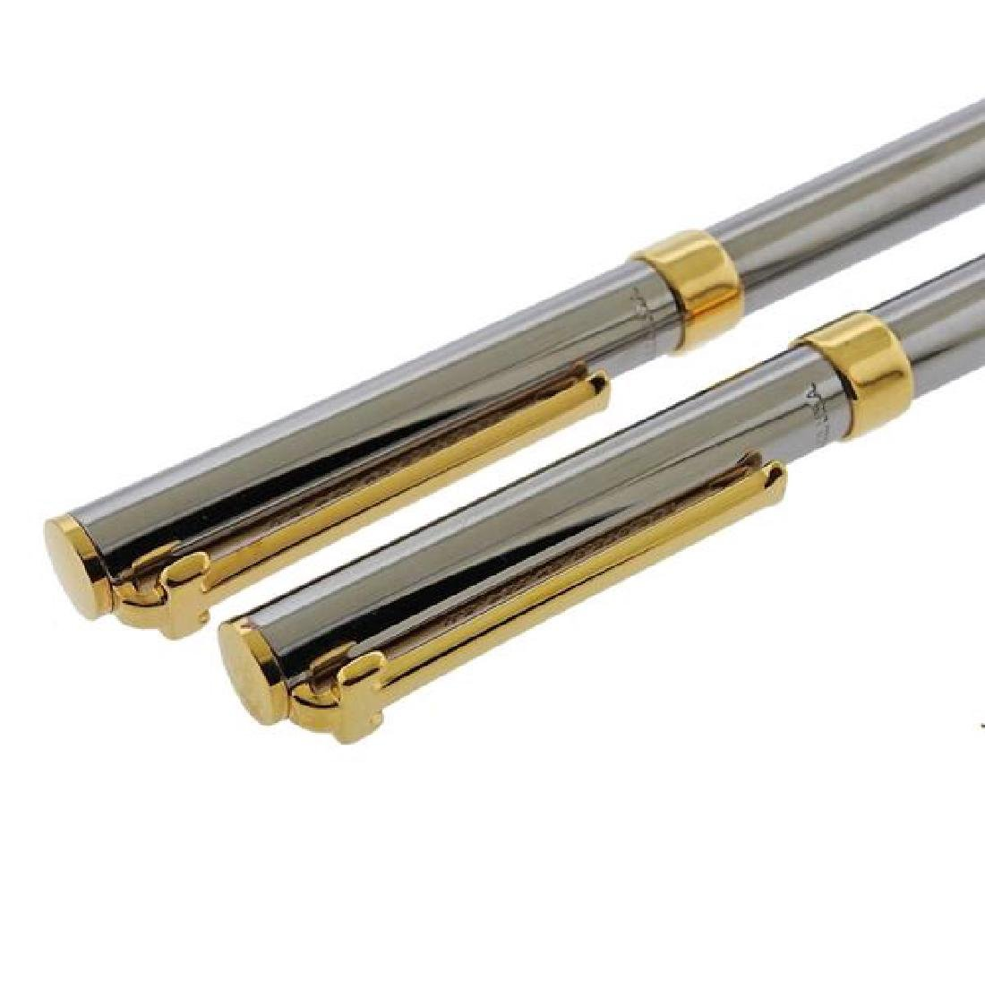 Tiffany & Co T Clip Steel Gold Plated Pencil Pen - 4