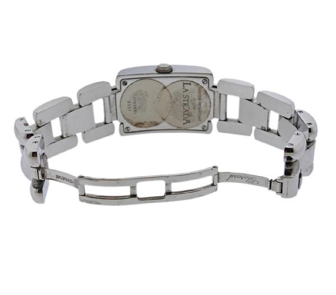 Chopard La Strada Steel Diamond Lady's Watch - 4