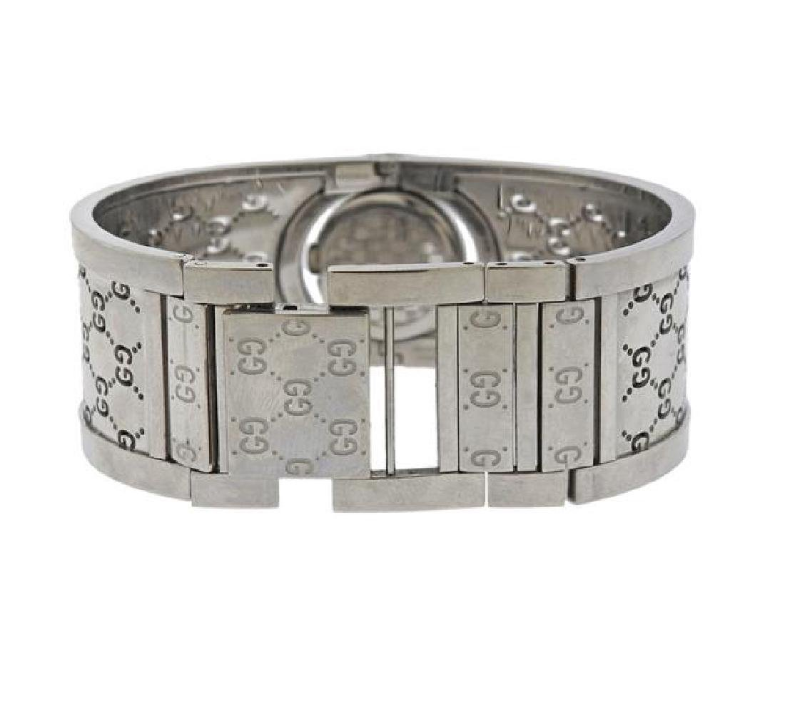 Gucci Steel Diamond Lady's Flip Watch Bracelet - 2
