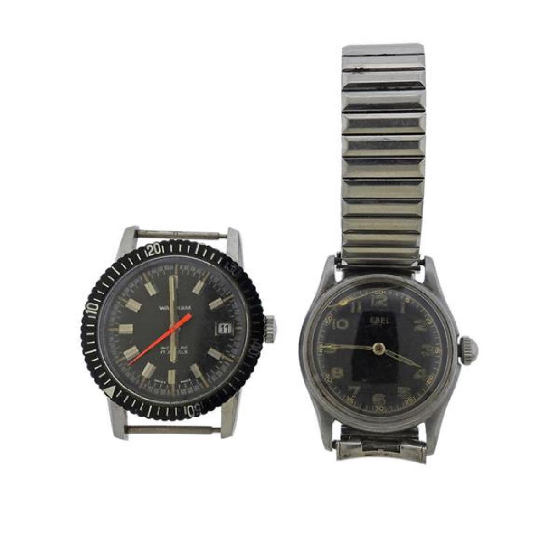 Waltham Ebel Stainless Steel Watch Lot of 2