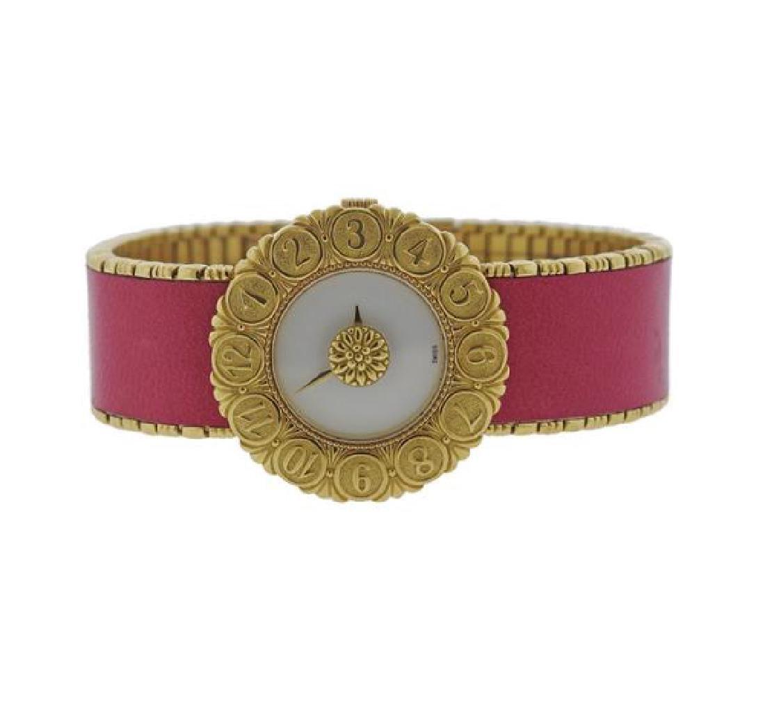 Buccellati Eliochron 18k Gold Pink Lady's Watch