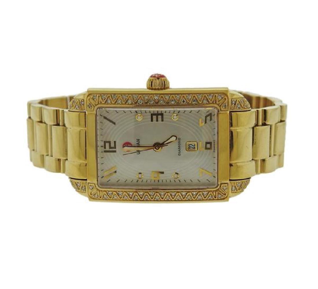 Michele Urban Sky Gold Tone Steel Diamond Watch