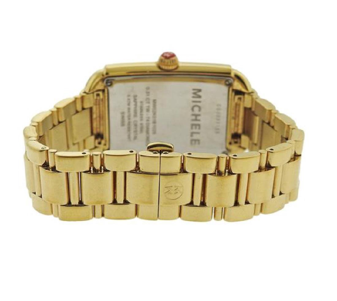 Michele Urban Sky Gold Tone Steel Diamond Watch - 2