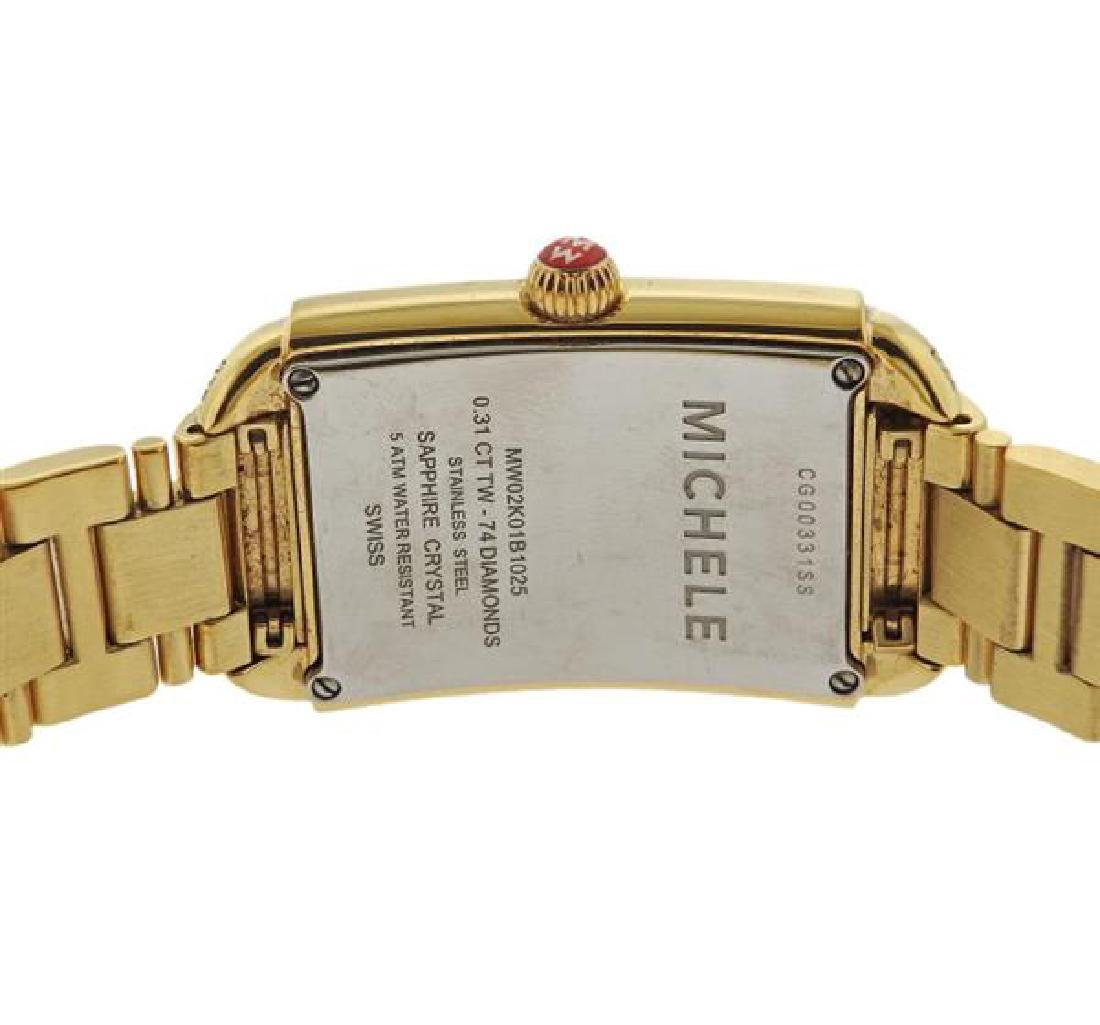 Michele Urban Sky Gold Tone Steel Diamond Watch - 3