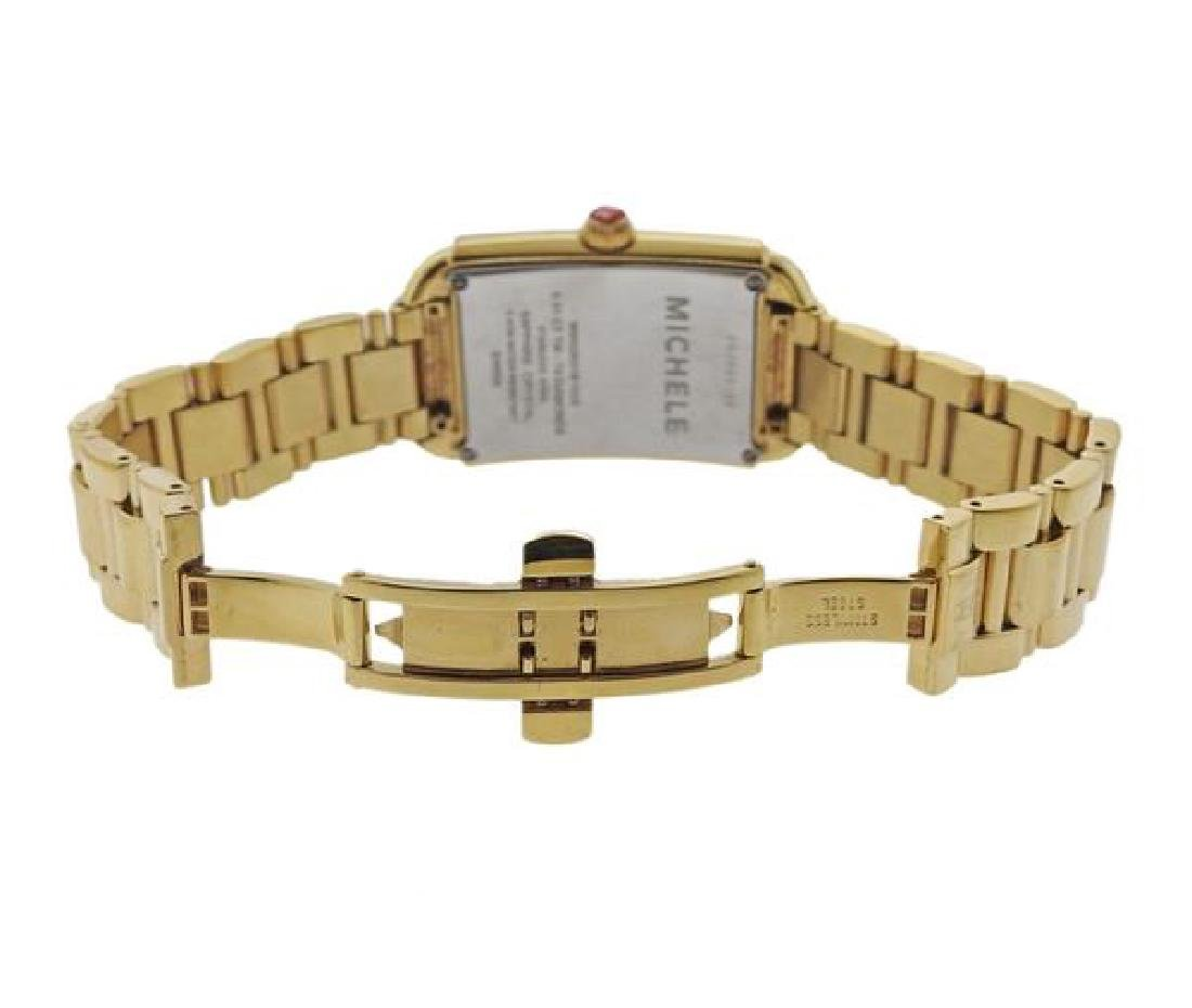 Michele Urban Sky Gold Tone Steel Diamond Watch - 4