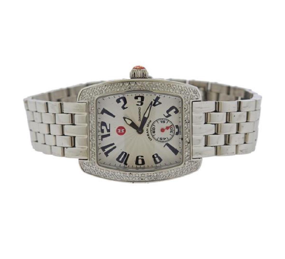 Michele  Urban  Diamond Steel Watch