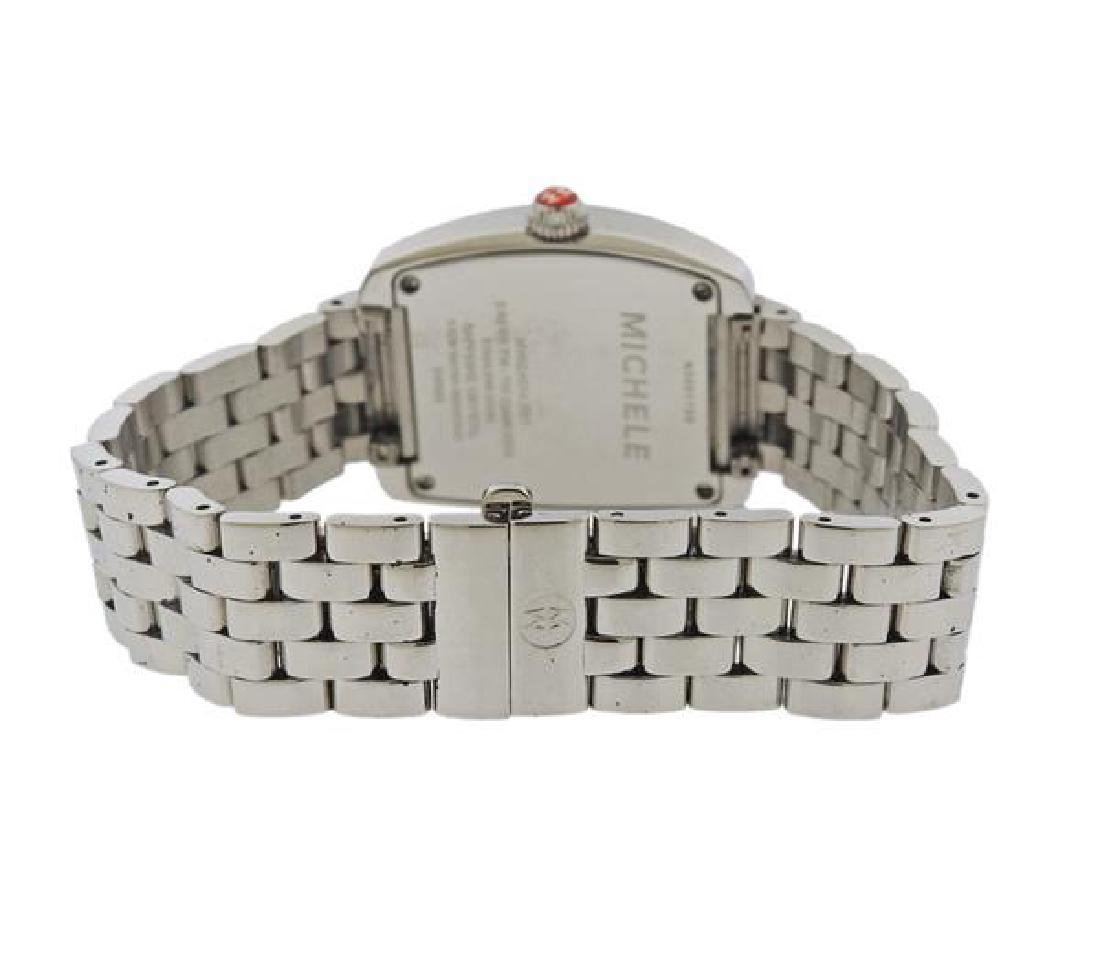 Michele  Urban  Diamond Steel Watch - 2