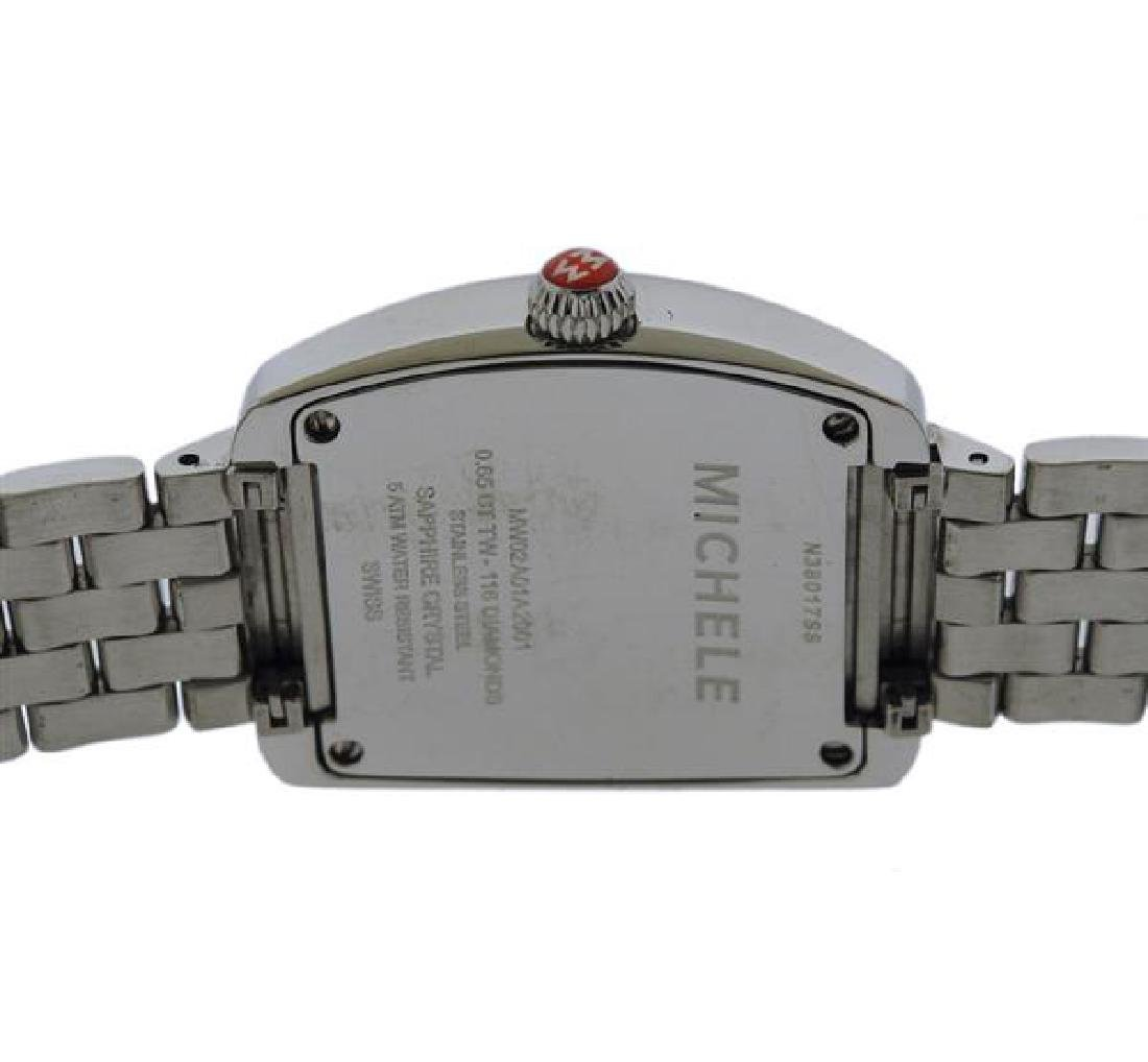 Michele  Urban  Diamond Steel Watch - 3