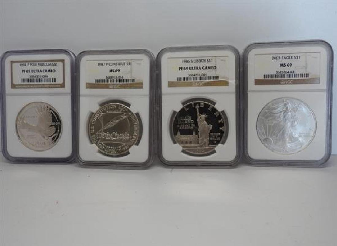 Mixed Date Silver Commemorative US 1 Dollar Coin Lot of