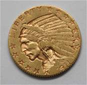 1911 Indian Head 5 Dollar US Gold Coin
