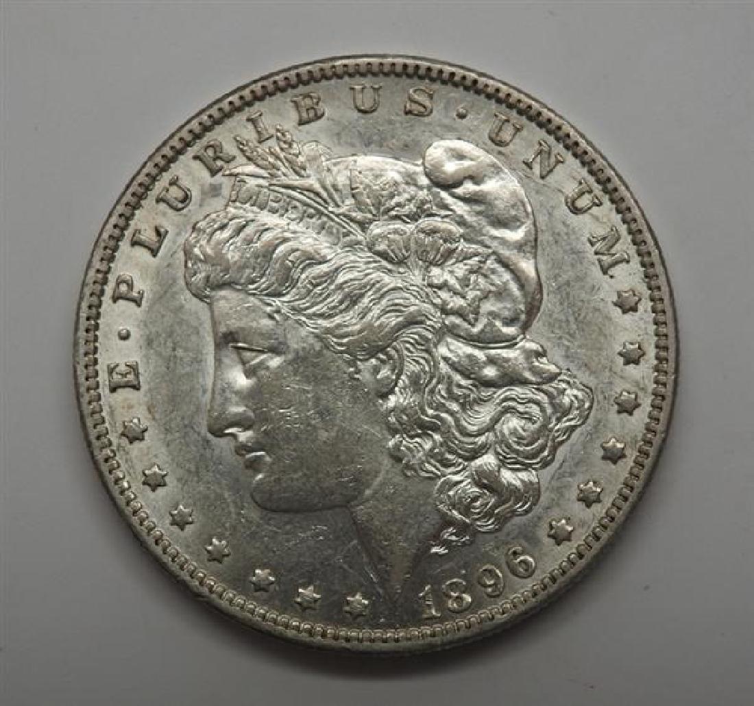 1896 O Morgan 1 Dollar Silver US Coin