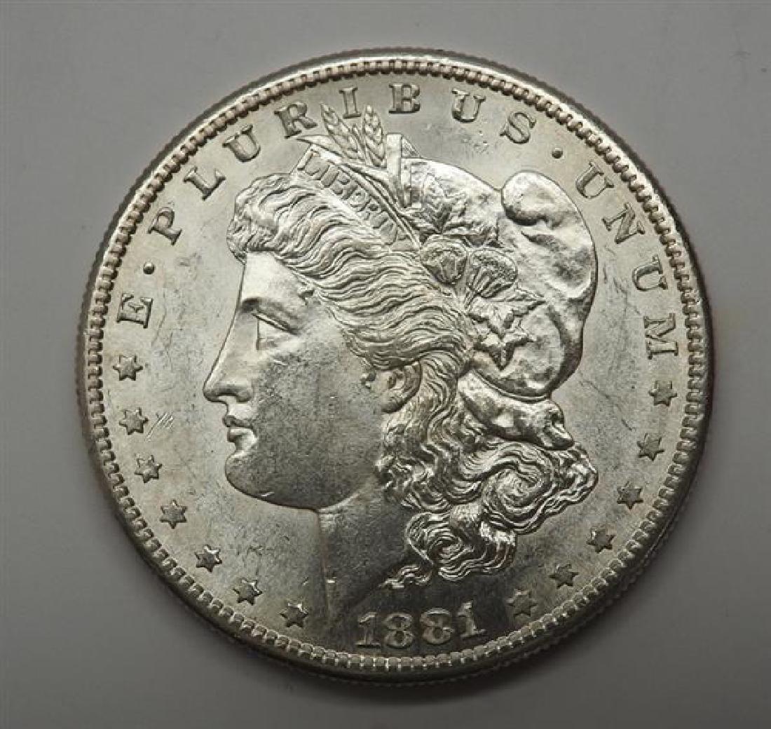 1881 S Morgan 1 Dollar Silver US Coin