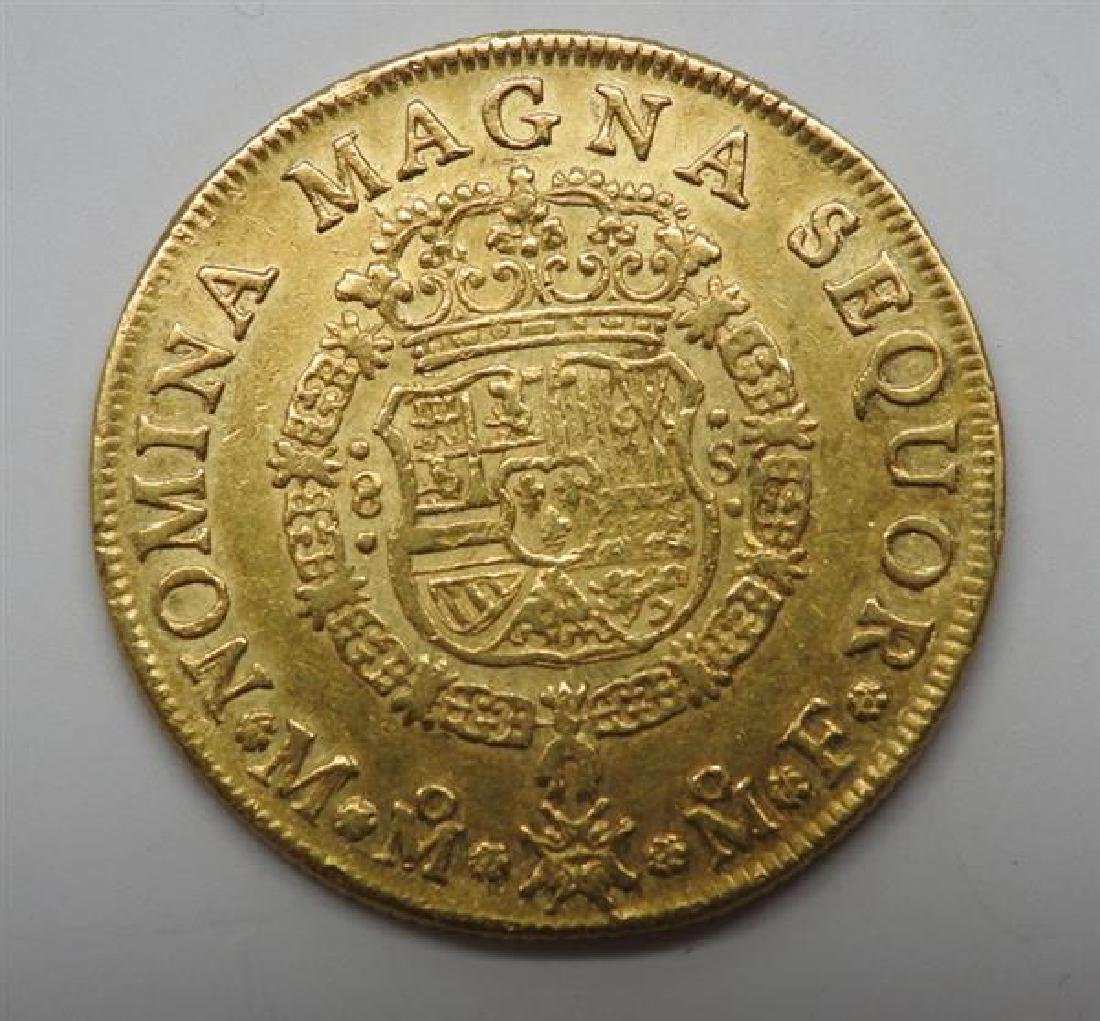 1749 Mexico Ferdinand VI 8 Escudos Gold Coin - 2