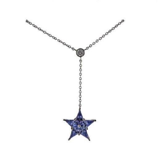 c69eaaa0d Tiffany & Co Platinum Diamond Sapphire Star Pendant - Oct 24, 2017 ...