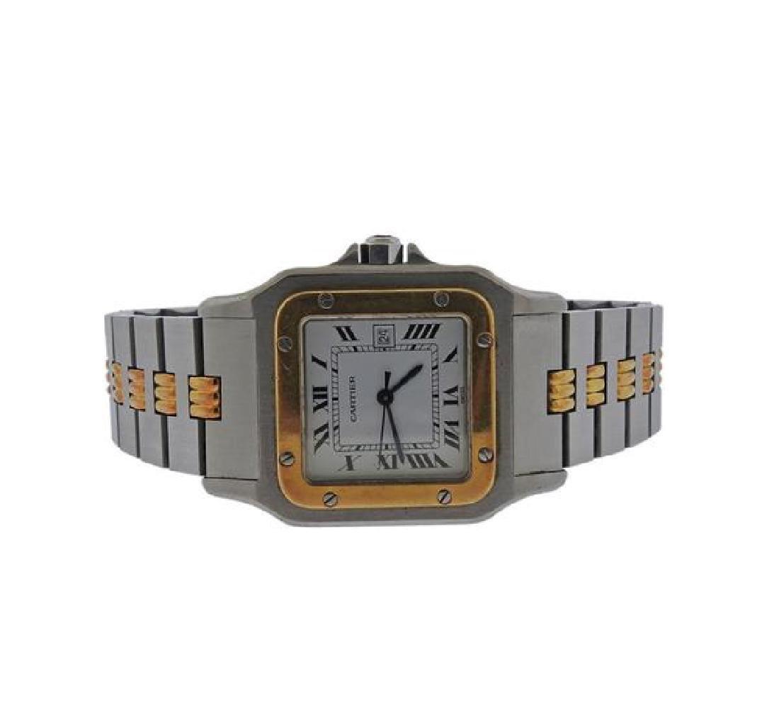 Cartier Santos 18k Gold Steel Automatic Watch