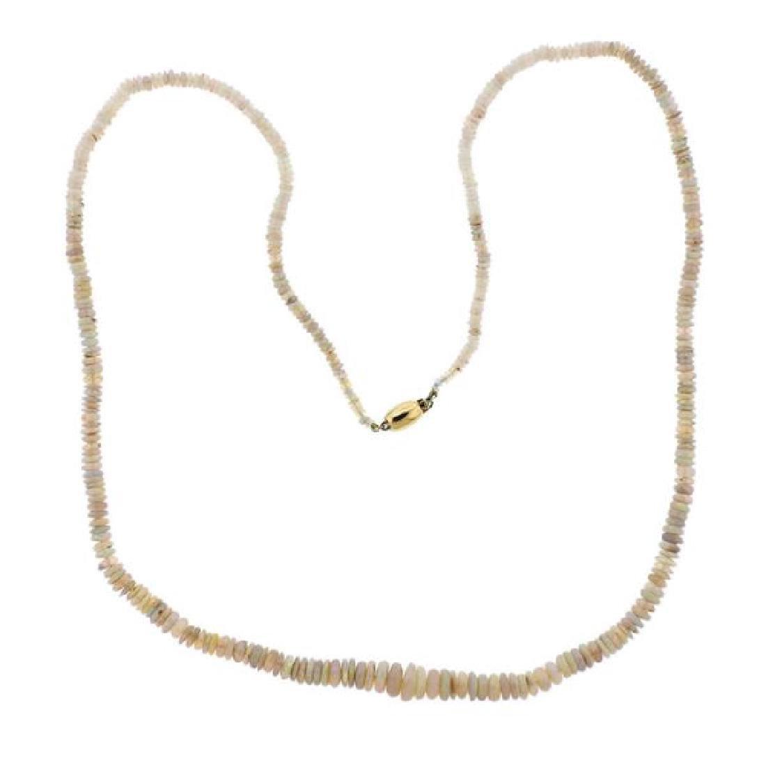 14K Gold Opal Necklace