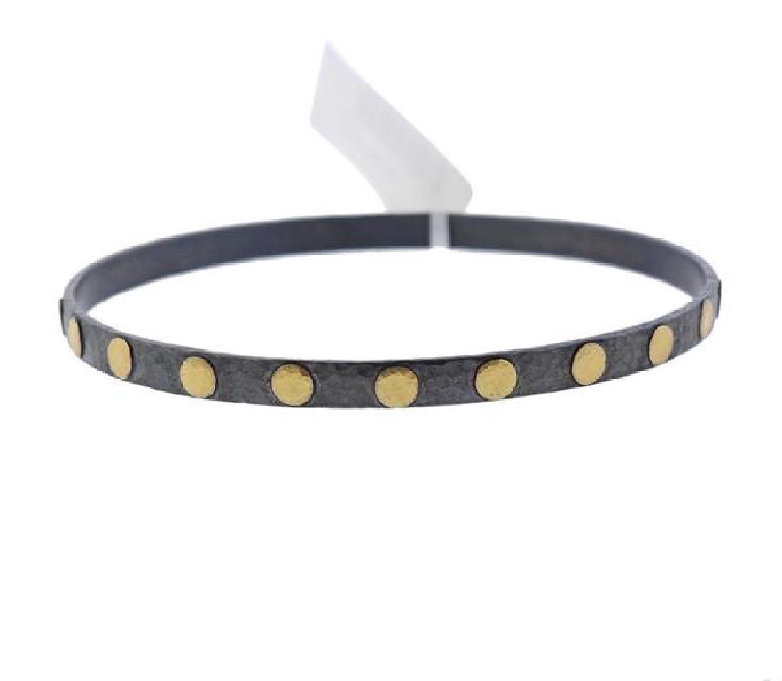 Gurhan Midnight Gold Sterling Bangle Bracelet