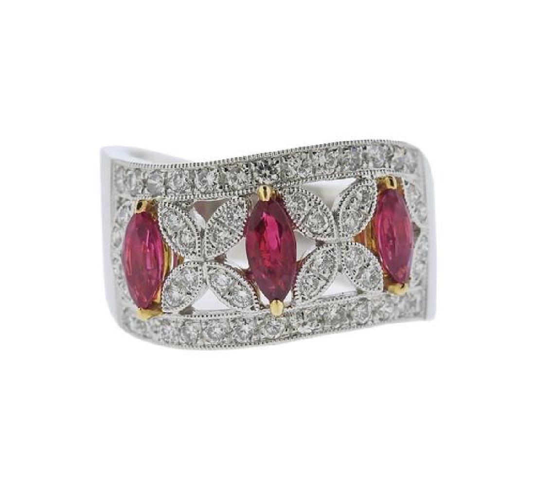 Larry 18k Gold Diamond Ruby Ring