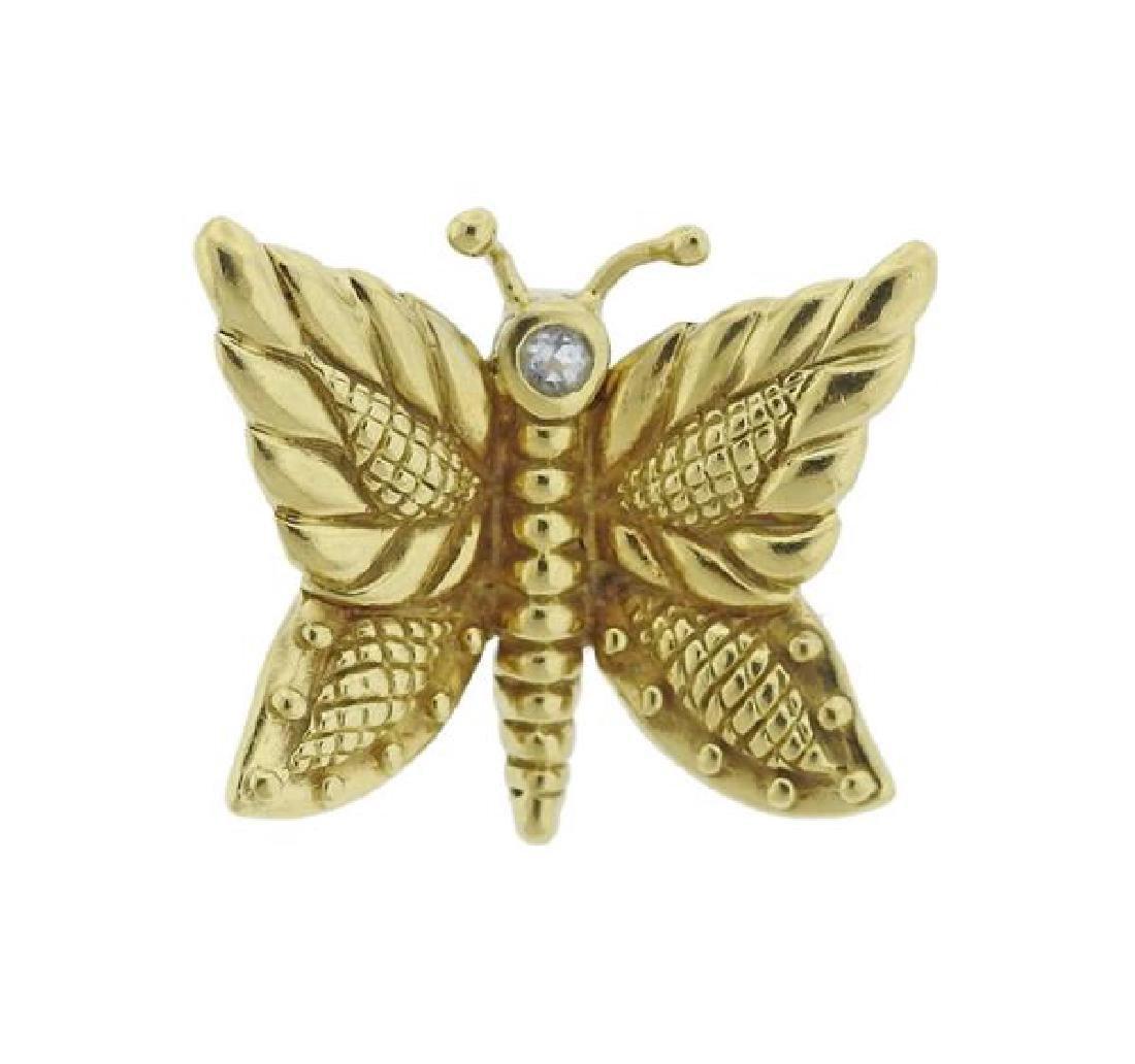 Judith Ripka 18k Gold Butterfly Pendant