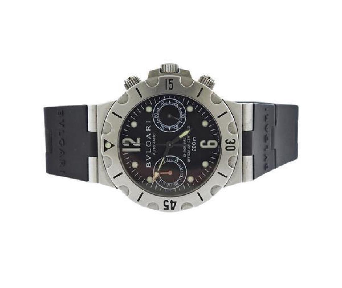 Bvlgari Bulgari Diagono Scuba Chronograph Watch SCB38S