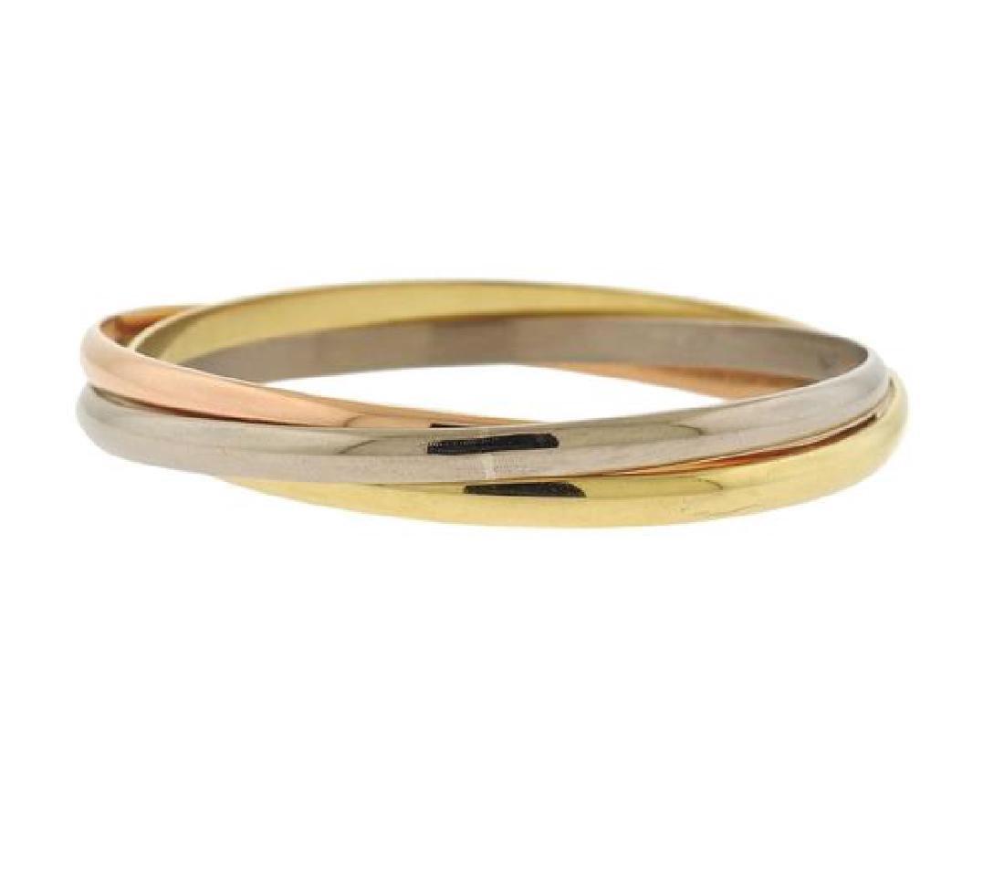 Cartier Trinity 18K Tri Color Gold Bangle Bracelet