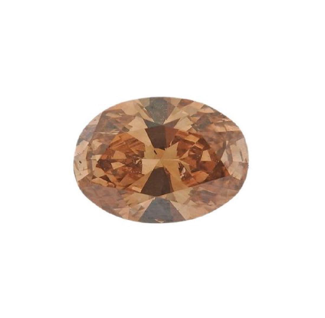 GIA Natural Fancy Brown Orange 1.00ct Oval Diamond