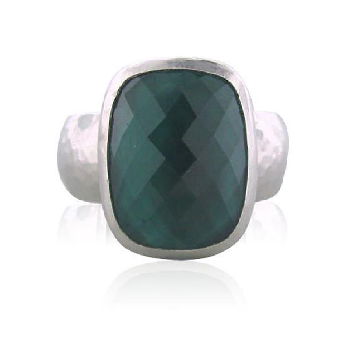 Gurhan Platinum 10ct Green Tourmaline Ring