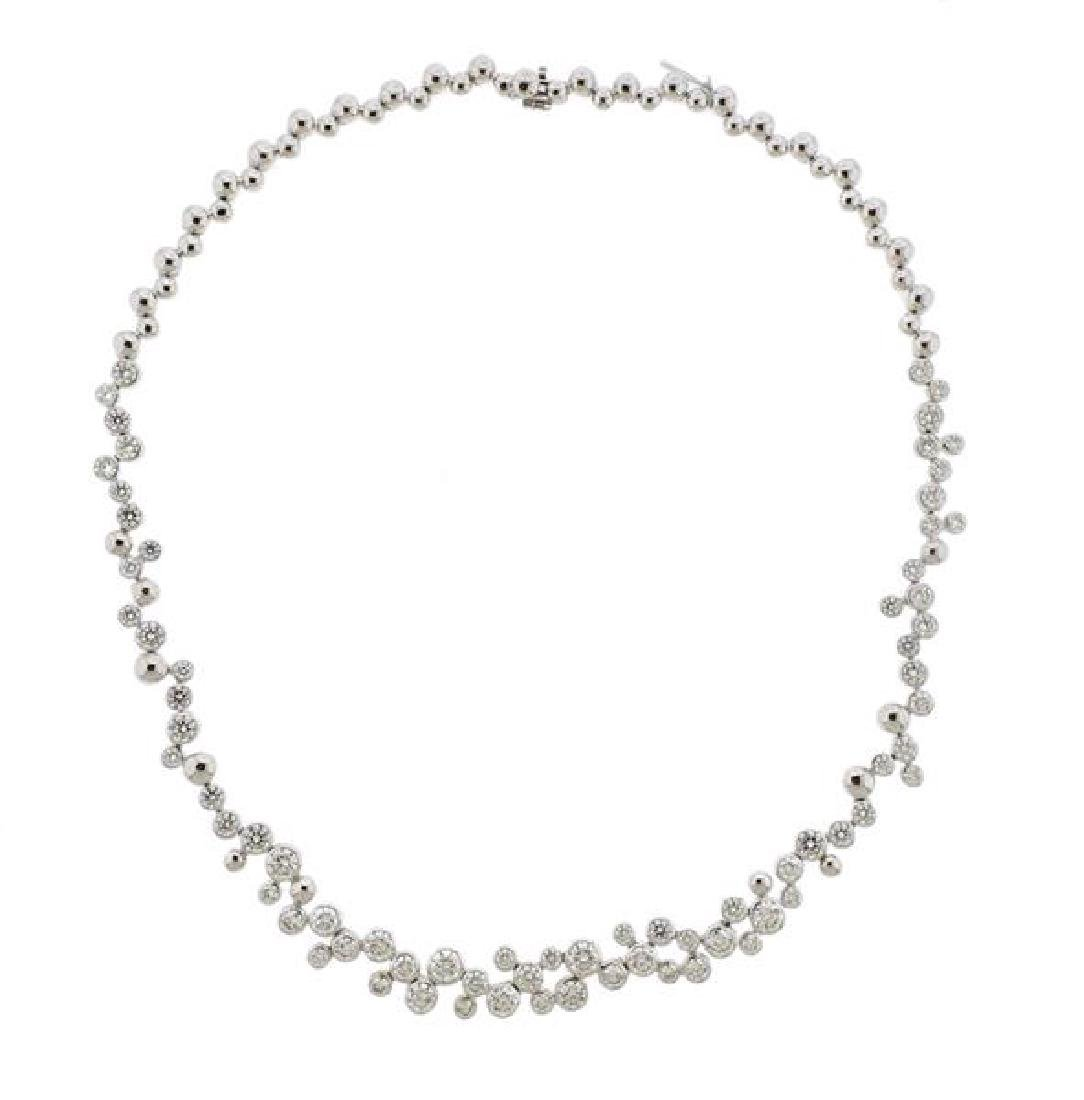 Fred Paris Neige 15ctw Diamond 18k Gold Necklace