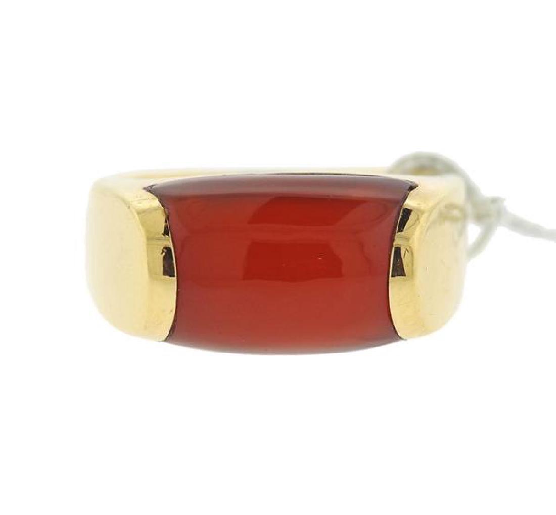 bvlgari bulgari tronchetto carnelian 18k gold ring